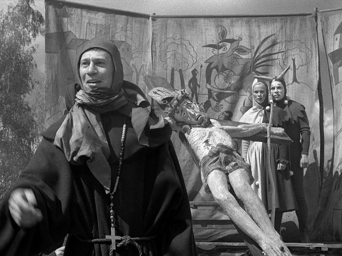 «Седьмая печать» - «Det sjunde inseglet»  (Ингмар Бергман, 1957) - фильм (фото, кадр)
