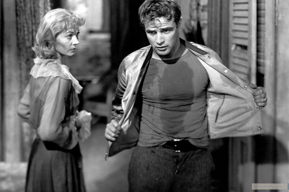«Трамвай Желание» - «A Streetcar Named Desire»  (реж. Элиа Казан, 1951) - Вивьен Ли, Марлон Брандо - фильм (фото, кадр)