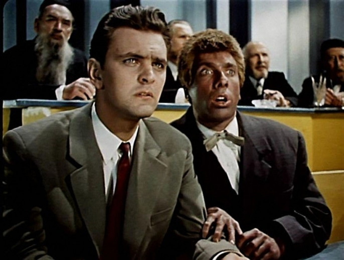 «Человек ниоткуда» (реж. Эльдар Рязанов, в гл.р. Сергей Юрский, Юрий Яковлев, 1961) - фильм (фото, кадр)