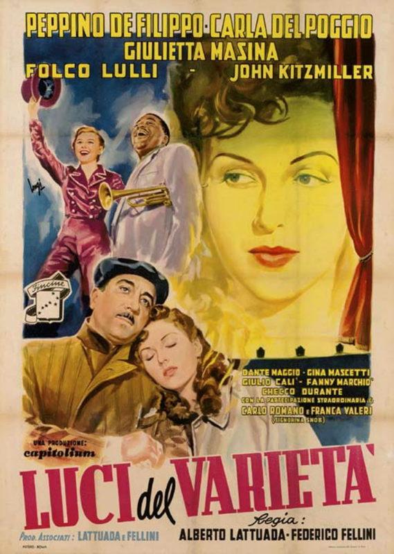 «Огни варьете» - «Luci del varietà»  (реж. Федерико Феллини, Альберто Латтуада, 1951, Италия) - фильм (постер)