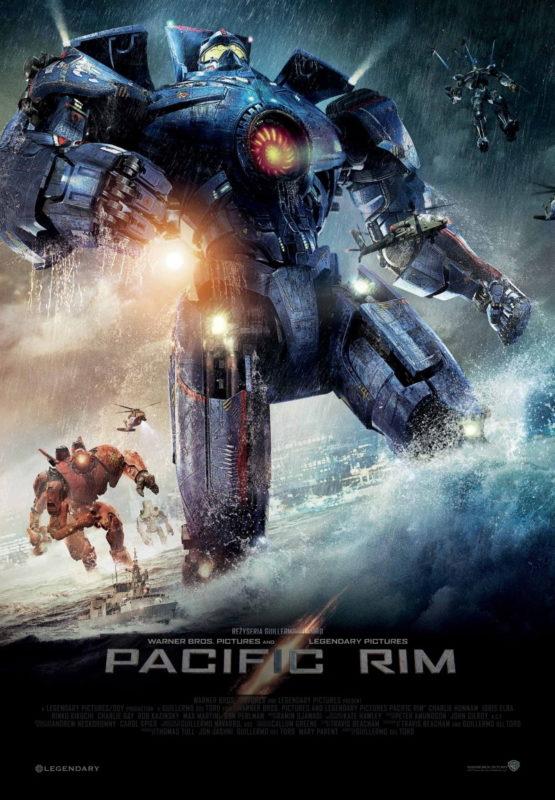 «Тихоокеанский рубеж» - «Pacific Rim»  (реж. Гильермо дель Торо, 2013) - фильм (постер)