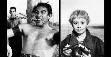«Дорога» - «La strada» (реж. Федерико Феллини, 1954) - Энтони Куинн, Джульетта Мазина