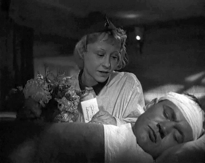 «Два бойца» (реж. Леонид Луков, 1943) - Янина Жеймо, Борис Андреев - фильм (фото, кадр)