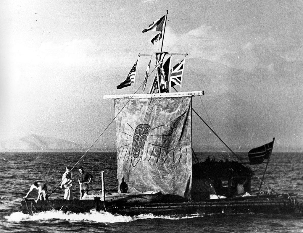 Фото «Кон-Тики». 1947 год